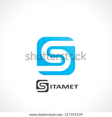 abstract symbol of letter s. template logo design. vector eps8 - stock vector