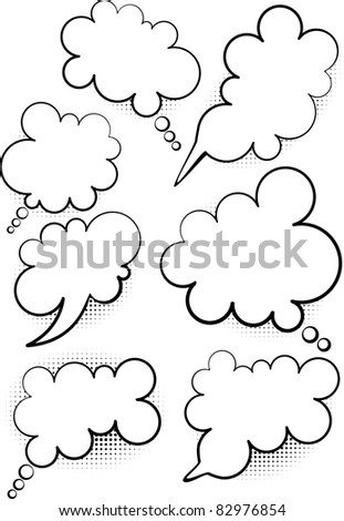Abstract talking  bubble - stock vector