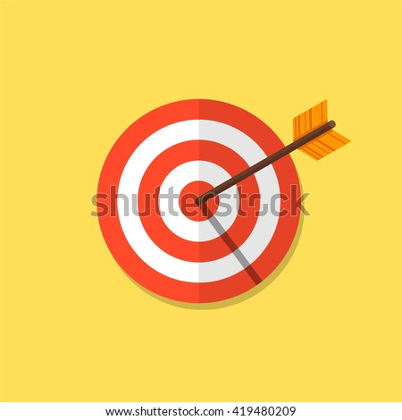 Abstract target icon. Vector target icon. Image target icon. Color target icon. Flat target icon. Target icon design. Target icon illustration. Target icon concept. Target icon goal.  - stock vector