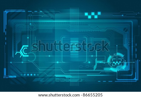 abstract tech background - stock vector