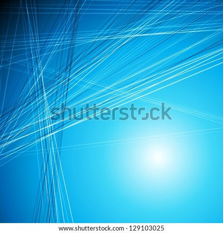 Abstract tech background with lines. Vector design eps 10 - stock vector