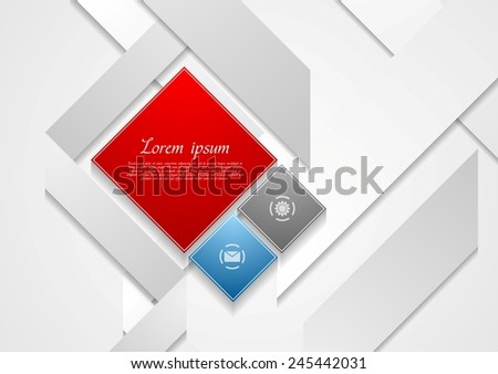 Abstract tech background with squares. Vector corporate design eps 10 - stock vector
