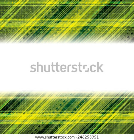 Abstract tech binary green background - stock vector