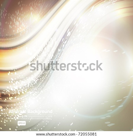 Abstract tech card with lighting effect in retro style. Vector - stock vector