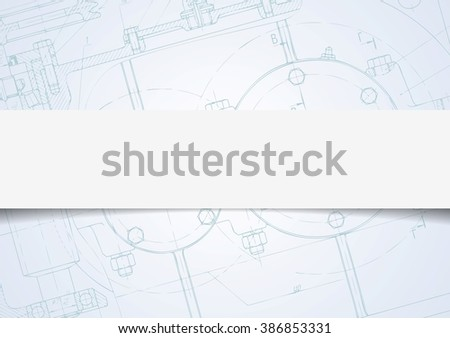 Abstract tech drawing corporate background. Vector design