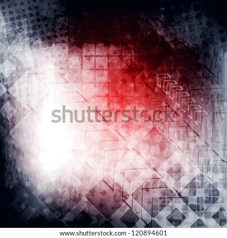 Abstract tech grunge background. Vector illustration eps 10 - stock vector