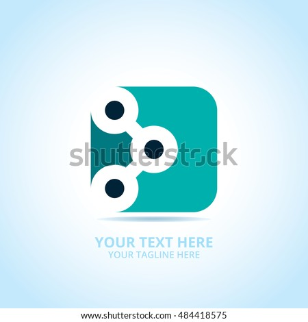 Abstract tech logo, design concept, emblem, icon, flat logotype element for template.