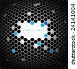Abstract technical background made from hexagons - stock photo