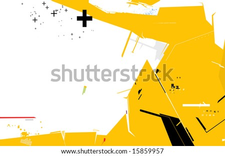 Abstract techno background:  composition of curved lines--great for backgrounds, or layering over other images - stock vector