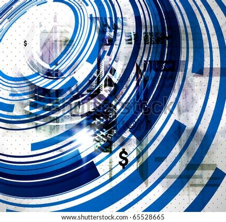 Abstract techno background vector - stock vector