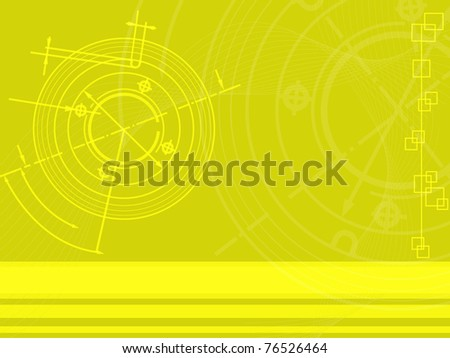 abstract techno background. vector - stock vector