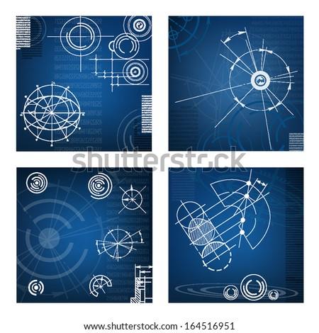 abstract techno background. vector. EPS10  - stock vector