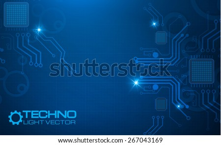 Abstract techno circuit background, Vector illustration - stock vector