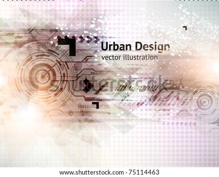 Abstract Techno Vector Background. Eps 10. - stock vector