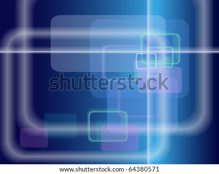 Abstract technological background in blue shades - stock vector