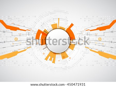 Abstract technological background with various elements. Structure pattern technology backdrop. Vector - stock vector