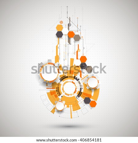 Abstract technological background with various technological elements. Structure pattern technology backdrop. Vector - stock vector