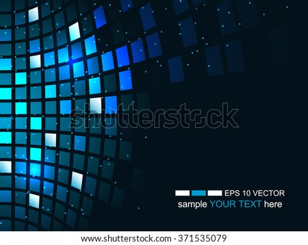 Abstract technology background, business and development direction/vector illustration with shiny square pattern and glitter for your business presentation. - stock vector