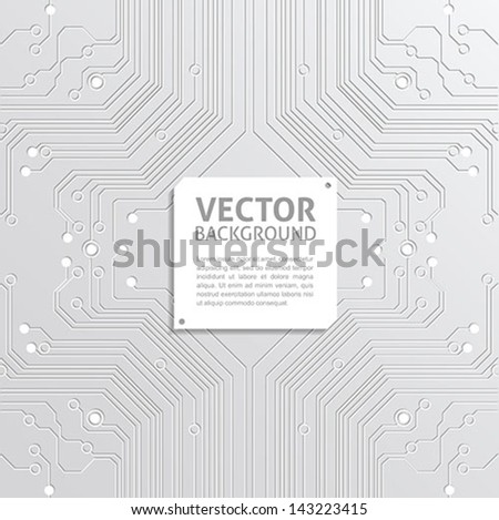 abstract technology background - circuit board texture vector - stock vector