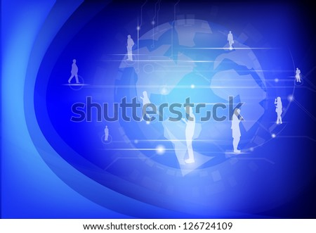 ... background abstract technology background everything is bad cartoon