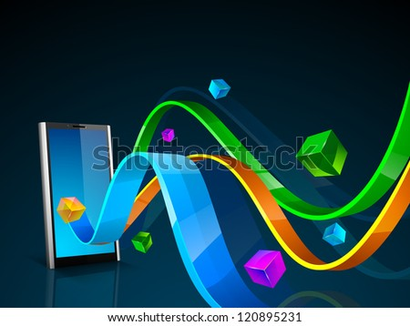 Abstract technology background. EPS 10. - stock vector