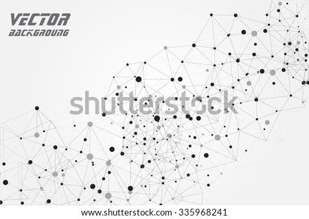 Abstract  technology background.Geometric vector background. - stock vector