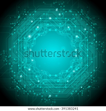 abstract technology background green - stock vector
