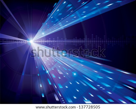 Abstract technology background in blue. - stock vector
