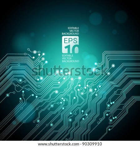 abstract technology background - vector - stock vector