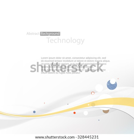 Abstract technology background. Vector illustration - stock vector