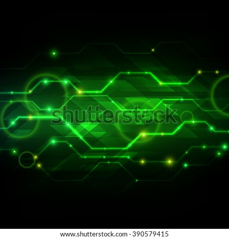Abstract Technology Background Vector Illustration - stock vector