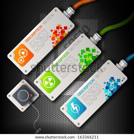 Abstract technology background. Vector Illustration, eps10, contains transparencies. - stock vector