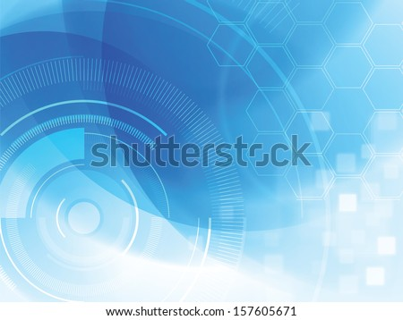 abstract technology background with hexagons - stock vector