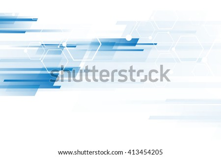 Abstract technology background with molecular structure connection.