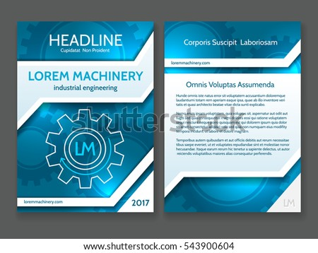 Abstract Technology Brochure Template, Modern Digital Technology Blue  Design Frame With Vector Tech Stripes And