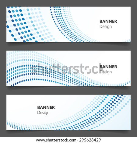 Abstract technology, business banner background, Vector Eps 10 - stock vector