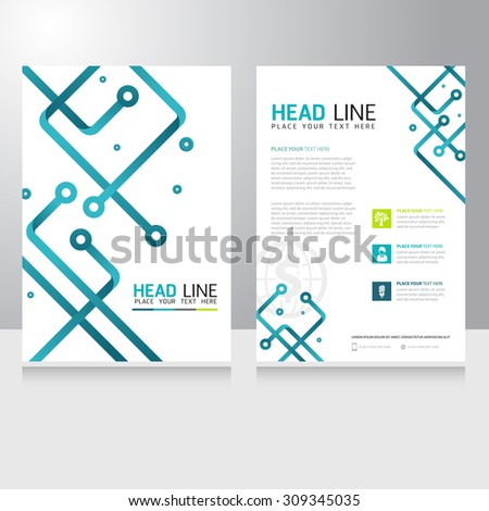 Abstract Technology Business Brochure Flyer design vector template - stock vector