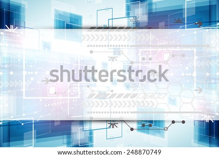 Abstract technology business template background. Vector - stock vector