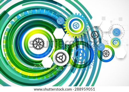 Abstract technology business template background. Vector illustration