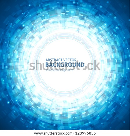 Abstract technology circle digital vector background - stock vector