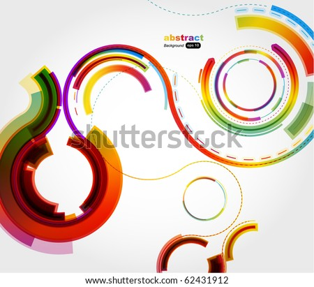 Abstract technology circles - stock vector