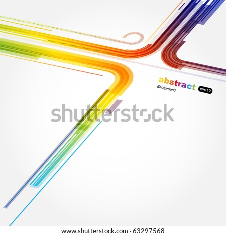 Abstract technology circles - stock vector