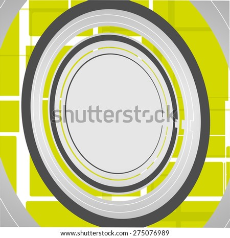 Abstract technology circles background, dynamic illustration. - stock vector