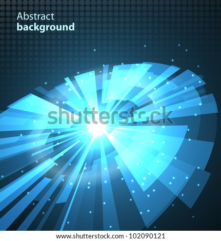 Abstract technology circles background. Vector illustration - stock vector