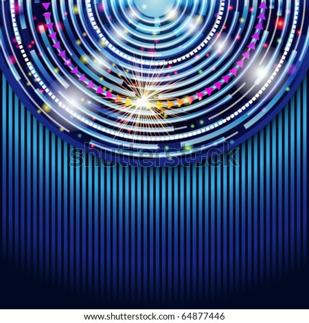 Abstract technology circles vector background. Eps 10 - stock vector