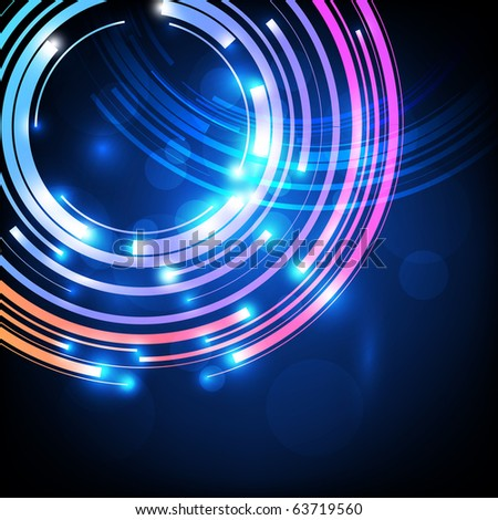 Abstract technology circles vector background for design. eps 10 - stock vector