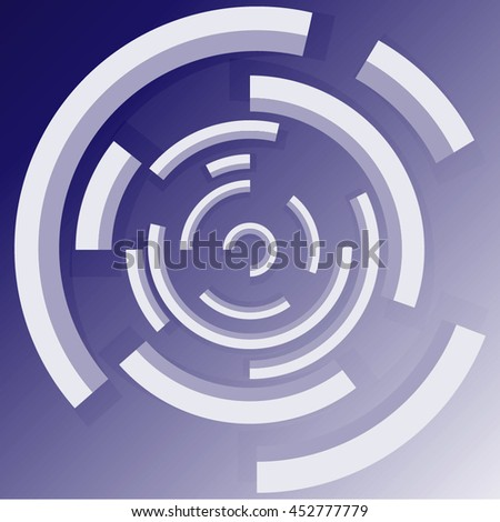 Abstract technology circles vector background.Technological circle with bright transparent ring. Eps10. Vector digital technology concept. Trendy and stylish design .Good for Technology Businesses - stock vector