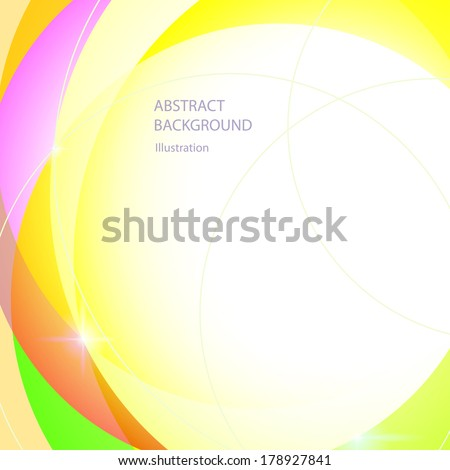 Abstract Technology Circles Yellow Background, Vector Illustration