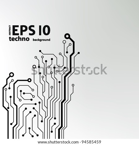 abstract technology circuit board vector background - stock vector
