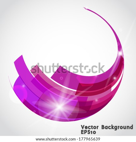 Abstract technology 3d circle. Vector illustration.  - stock vector